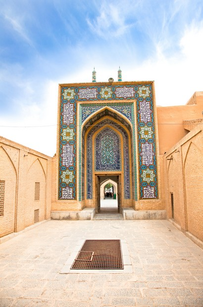 Entrance in Masjed-i Jame' Mosque, Yazd, Iran