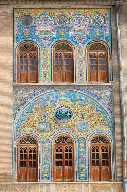 Mosaic wall of Golestan  palace, Tehran, Iran