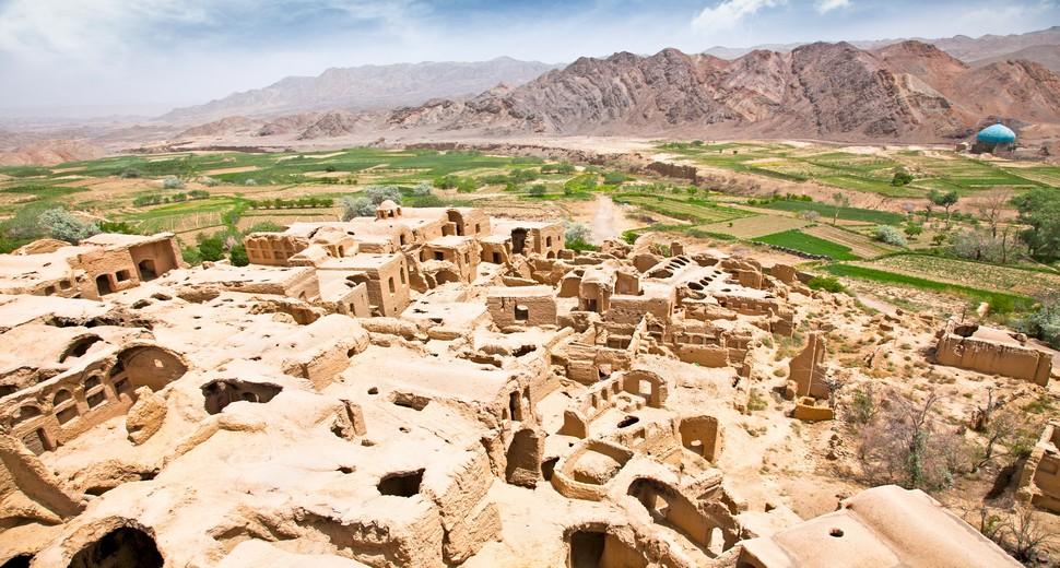 Kharanaq - deserted mud-brick village, Iran